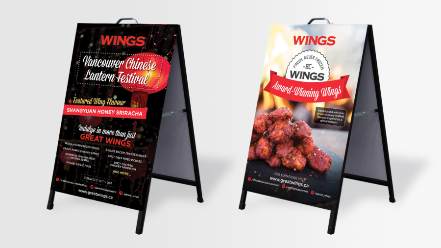 WINGS Restaurants & Pubs - Chinese Lantern Festival - A Frame Poster Design