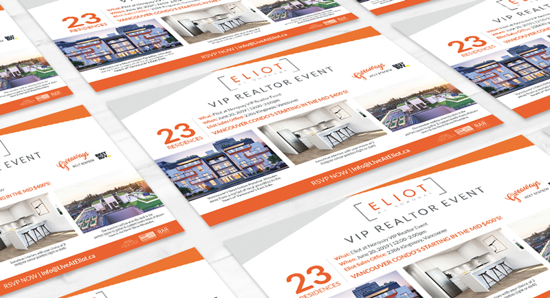 Eliot at Norquay | VIP Realtor Event Postcard Design