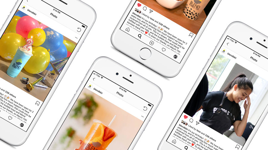 Social Media Design Mockup | Blend Bubble Tea