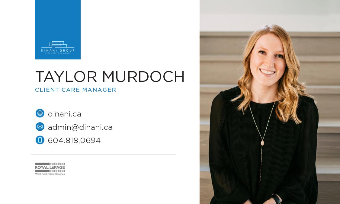 Taylor Murdoch –Business Card Design –Dinani Group