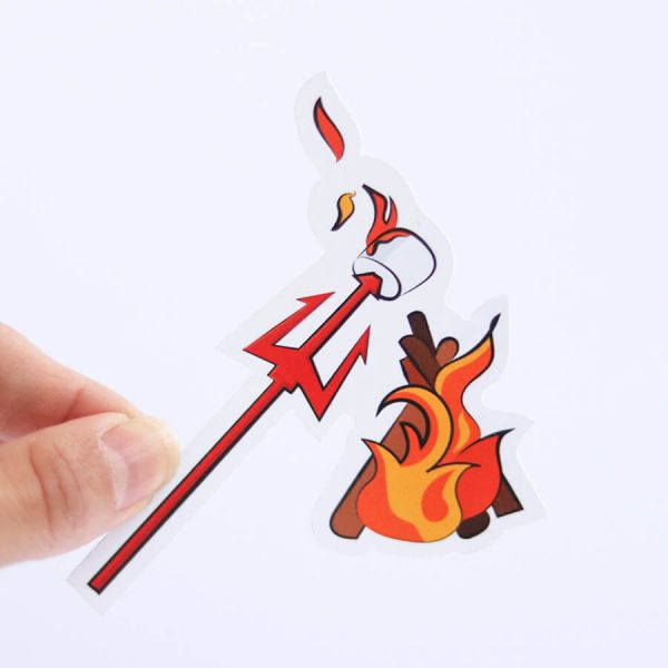 Sin S'more Sticker | Holding with Fingers | Ash Robertson Design | Sinful Summer