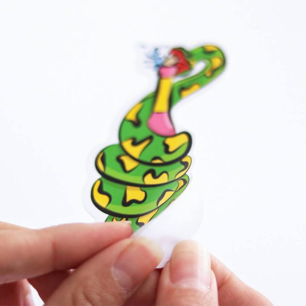 Slurpent Sticker | Peeling Backing Off | Ash Robertson Design | Sinful Summer