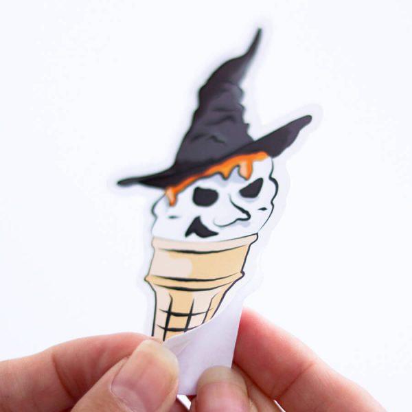Ice Cream Witch (Vanilla) Sticker | Peeling off Backing | Ash Robertson Design