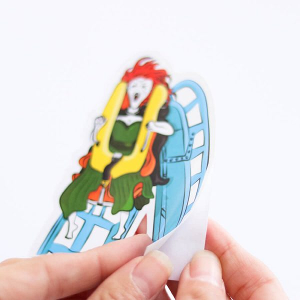 Banshee Rollercoaster Sticker | Peeling Backing Off | Ash Robertson Design