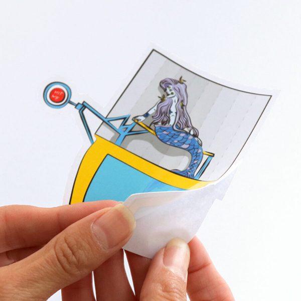 Sink the Siren + Mermaid Dunk Tank Sticker | Peeling Backing Off | Ash Robertson Design