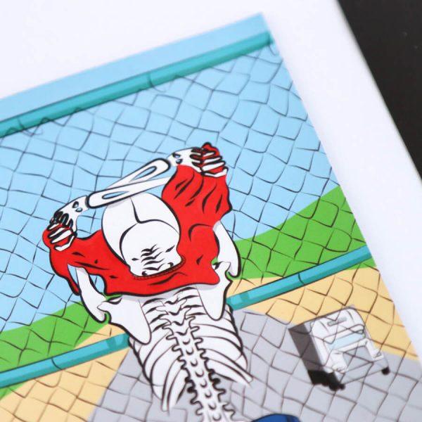 Skeleton Flashing Highway Magnet | Zoomed In Side Angle | Ash Robertson Design | Sinful Summer
