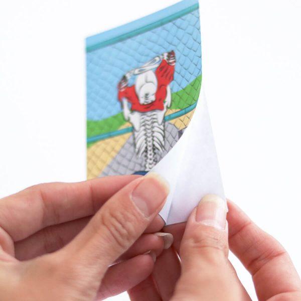 Skeleton Flashing Highway Sticker | Peeling Backing Off | Ash Robertson Design