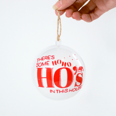 HoHoHos Ornament - Holding with Fingers - Front Side