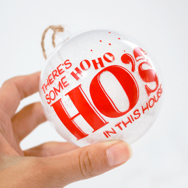 HoHoHos Ornament - Holding in Hand - Front Side