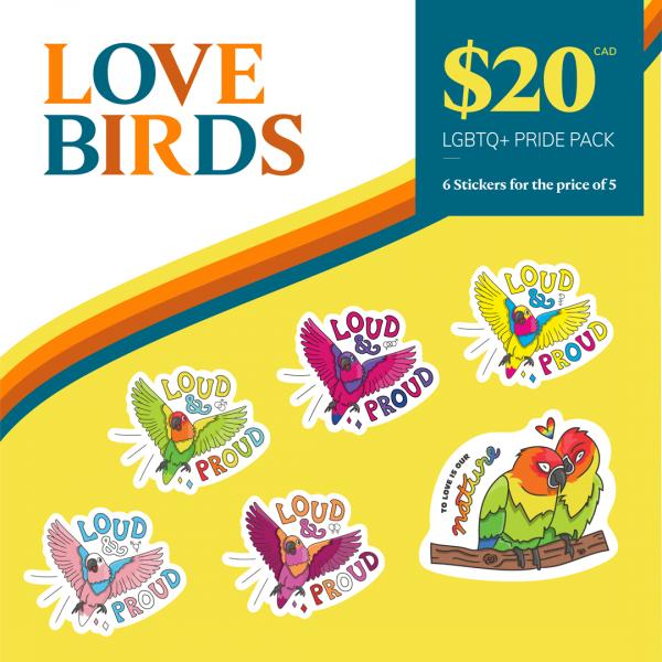 Love Birds Bundle | All LGBTQIA+ Pride Stickers for $20