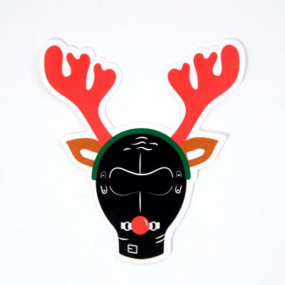 Reindeer Games Sticker - Top Angle - Ash Robertson Design