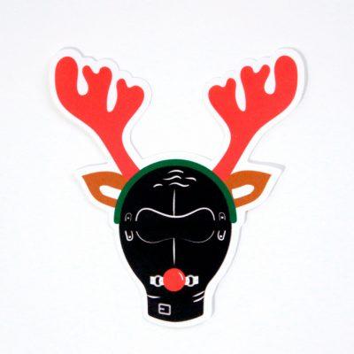 Reindeer Games Sticker - Top Angle - Ash Robertson Design