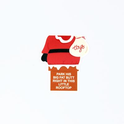 Santa Rooftop Sticker | Birdseye View (Top Angle) | Ash Robertson Design