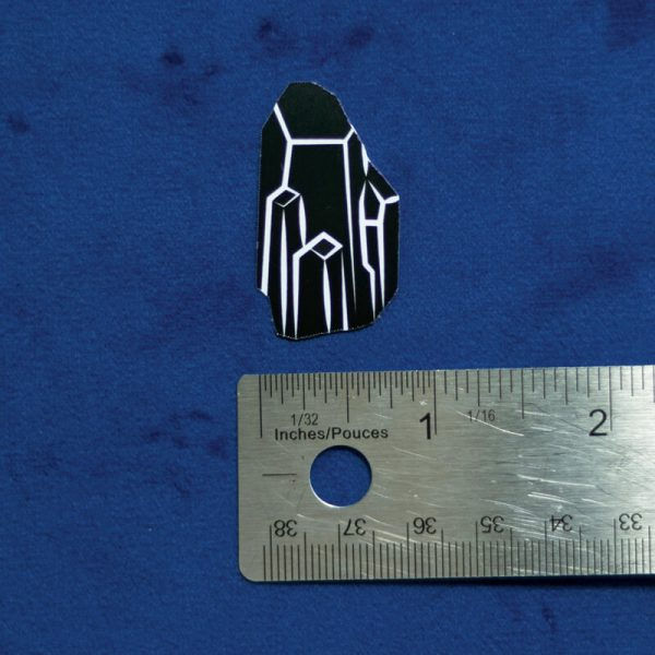 Black Crystal Sticker (Holographic) | Horizontal Measurement | Ash Robertson Design