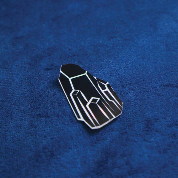 Black Crystal Sticker (Holographic) | Side Angle | Ash Robertson Design