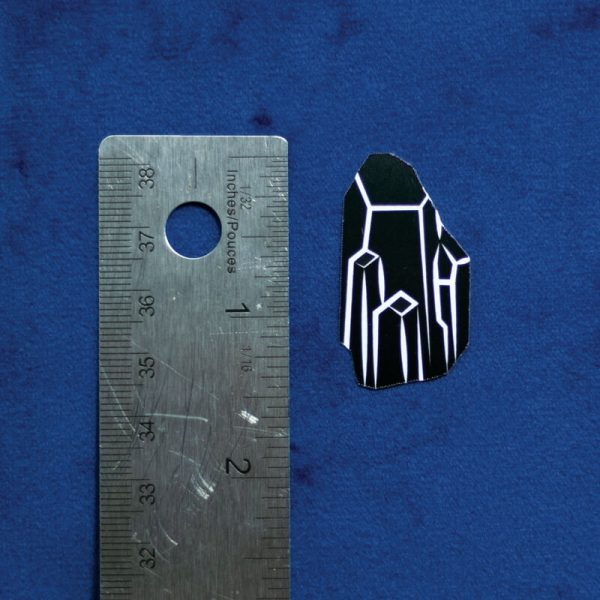 Black Crystal Sticker (Holographic) | Vertical Measurement | Ash Robertson Design