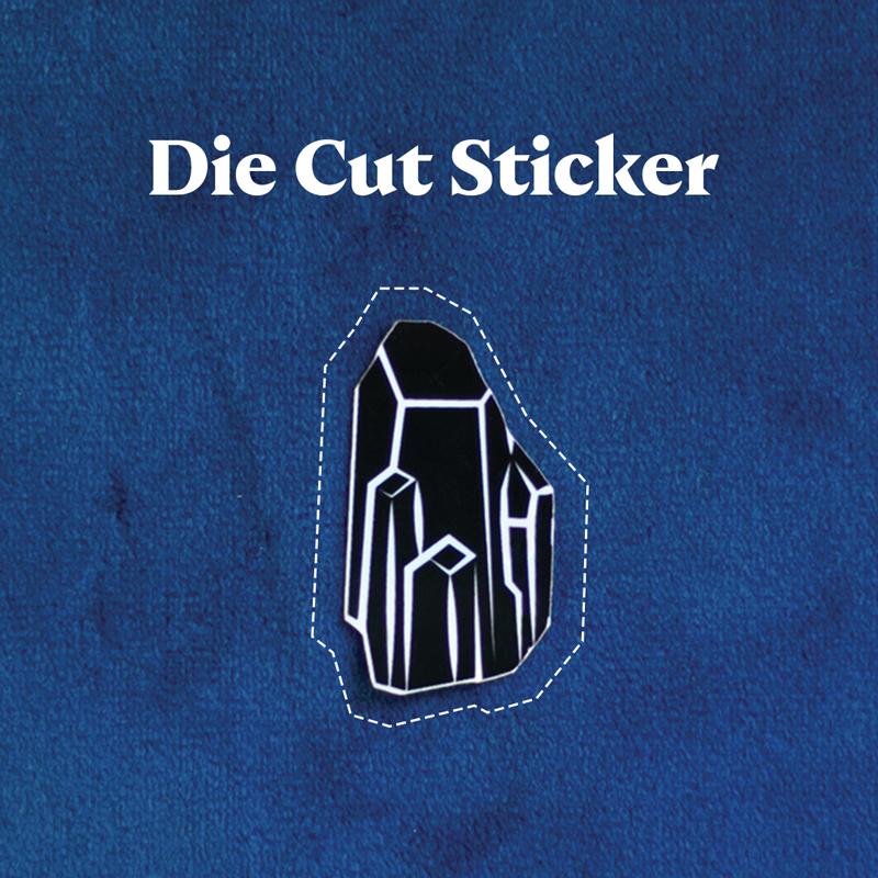 Die Cut Sticker - Black Crystal Holographic