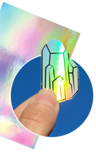 Holographic Vinyl Sticker Paper with Holo Crystal