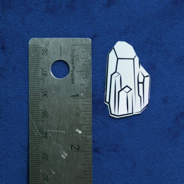 Holo Crystal Sticker (Holographic) | Vertical Measurement | Ash Robertson Design