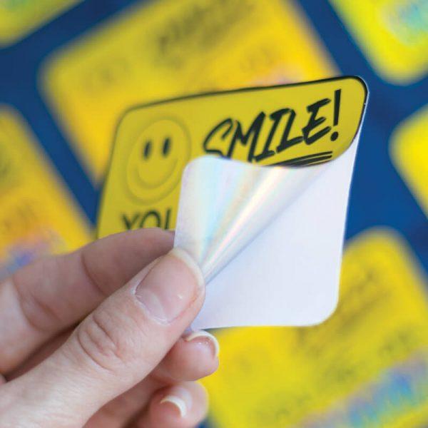 Smile! You're On Shrooms Sticker (Holographic) | Peeling Off Backing | Ash Robertson Design