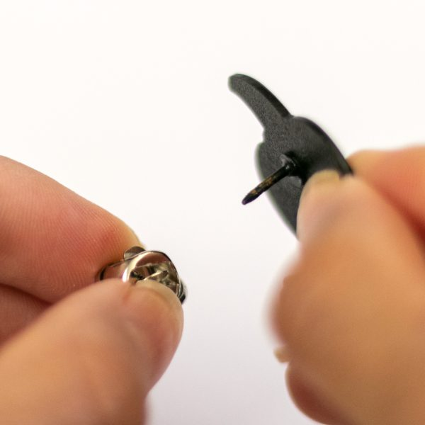 Taking Butterfly Clutch off of Pumpkin Pin